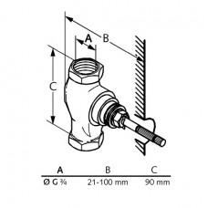 Внутренняя часть запорного вентиля для скрытого монтажа 53811