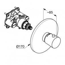 KLUDI BALANCE Встраиваемый смеситель с термостатом внешняя монтажная часть, для 88 011 527298775