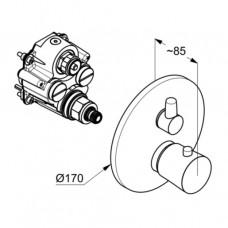 KLUDI BALANCE Встраиваемый смеситель для ванны и душа с термостатом внешняя монтажная часть, для 88 011 528308775