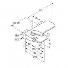 KLUDI BALANCE Однорычажный смеситель для ванны и душа 524458775