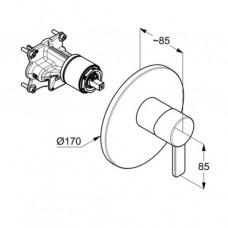 KLUDI BOZZ Встраиваемый смеситель для ванны и душа внешняя монтажная часть, для 38 624N 386553976