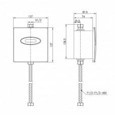 Бесконтактное смывное устройство для писсуара LEMARK Project LM4657CE