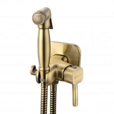 SOLO Смеситель с гигиеническим душем, встраиваемый, бронза LM7165B