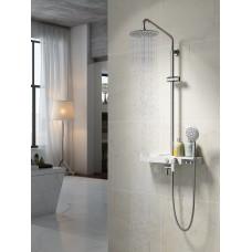 TROPIC Смеситель для ванны с верхней душевой лейкой, 3-функциональная лейка LM7007C