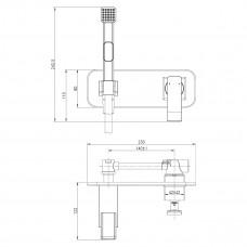 CONTEST Смеситель с гигиеническим душем, встраиваемый, хром/белый LM5819CW