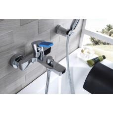 AURA Смеситель для ванны, с коротким изливом, дивертор с керамическими пластинами, хром LM0614C