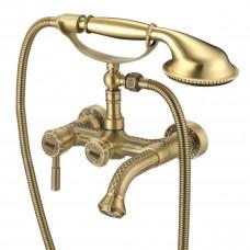 JASMINE Смеситель для ванны с коротким фиксированным изливом, бронза LM6612B