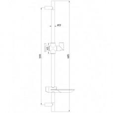 Стойка душевая 685 мм с овальной мыльницей, хром LM8062C