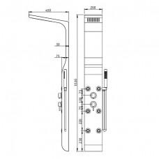 Душевая панель RGW SP-02 белая, артикул 21140102-03