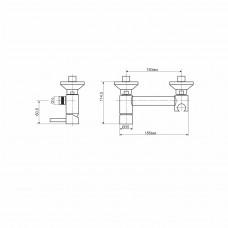 Смеситель для гигиенического душа RGW SP-201 хром, артикул 301405201-01
