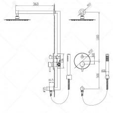 Душевая система встраиваемая RGW SP-51 хром, артикул 21140851-01