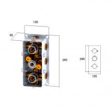 Встраиваемый термосмеситель RGW SP-41-01 хром 4-6 режимов, артикул 21140541-11