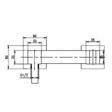 Смеситель для гигиенического душа RGW SP-202 хром, артикул 301405202-01