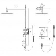 Душевая система встраиваемая RGW SP-54 хром, артикул 21140854-01
