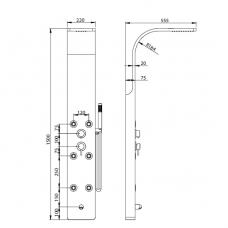 Душевая панель RGW SP-03 матовый хром, артикул 21140103-10