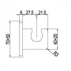 Держатель ручного душа латунь RGW SP-186 хром, артикул 21140686-01