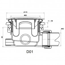 Сифон для душевых поддонов RGW Velplex QYD-01-br бронза 90 мм .     18241101-08