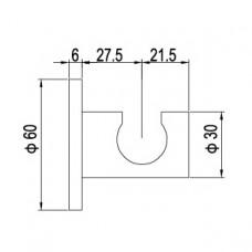 Держатель ручного душа латунь RGW SP-185 хром, артикул 21140685-01