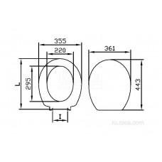 Крышка для чаши Roca Victoria Nord Soft Close Black Edition ZRU9000103 петли хром
