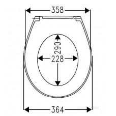 Крышка для чаши Roca Victoria Nord Soft Close ZRU9302919 петли хром