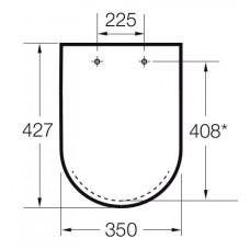 Крышка для чаши Roca The Gap Soft Close 801732004 петли хром