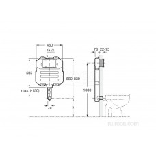 Система инсталляции Roca Basic Tank Compact 890080200 бачок для напольного унитаза