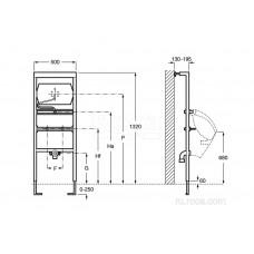 Система инсталляции Roca Duplo Urinario 890094100 для писсуара