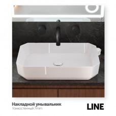Накладная раковина Sanita Luxe Line 55*35, LINSLWB01